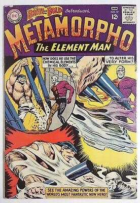 THE BRAVE AND THE BOLD #57 (DC 1965) 1st Metamorpho & Origin Solid Copy