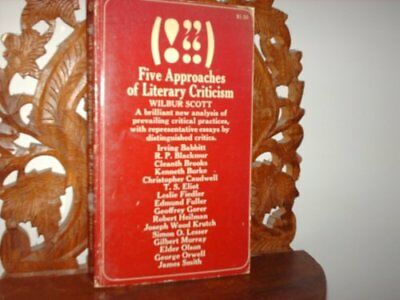 FIVE APPROACHES OF LITERARY CRITICISM By George Orwell **BRAND NEW**