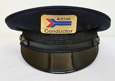 Vintage Amtrak Classic Train Conductor Hat size 7 3/8 collectible