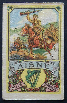 AISNE Battle Series issued by MY WEEKLY in 1916 Silk with descriptive backing