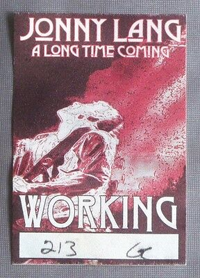Jonny Lang 2004 A Long Time Coming Tour Working Crew Satin Backstage Pass