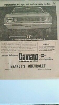 vintage 1966  newspaper ad Camaro