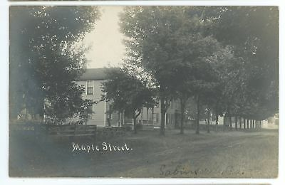 RPPC Maple Street SABINSVILLE PA Tioga County Pennsylvania Real Photo Postcard 2