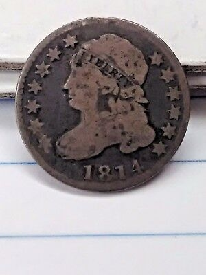 1814 Bust Dime original from estate