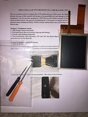 TDS Ranger TSC2 Screen Replacement Kit with instructions
