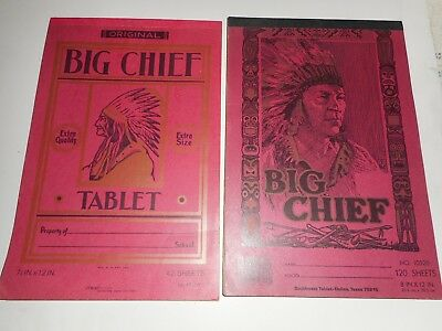 Vintage Big Chief/indian Writing Tablet Lot Of 4 Different