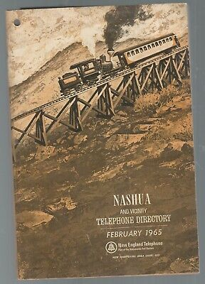 1965 Nashua, Nh Telephone Directory. Cog Railroad, White Mountains Cover.
