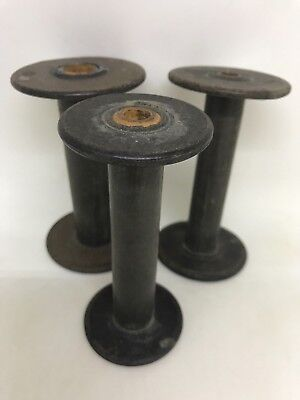 Vintage Set of 3 Rustic Composite Spools
