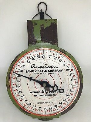 Vintage Set of 'American Family Scale Company' Hanging Scales