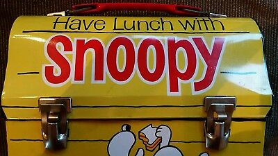 Have Lunch with Snoopy 1968 Vintage Rare Peanuts Gang Thermos Lunch Box Metal $!