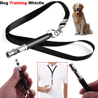 Dog Pet Whistle Puppy Training Ultrasonic Pitch Sound Adjustable Frequency Lanya