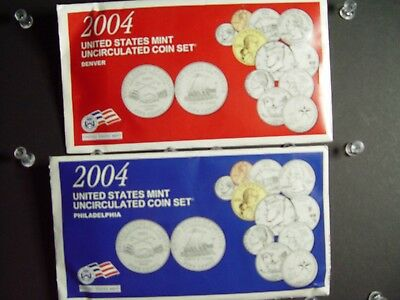 2004 P D Uncirculated United States Mint Set- Set of 22 Coins