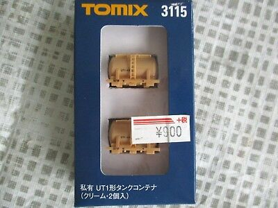 Tomix 3115 N Scale 1/150 Tank Containers Type UT1 Cream Colour 2 pack