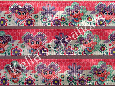"Abby Cadabby- sesame street- 1"" Sold by 2 M - Craft - Dummy clips- Hair bows"