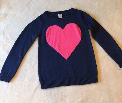 Carter's Girls Winter Sweater - Navy with Pink Heart  Size 4  NEW Free Shipping!