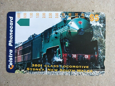 Unused $5 Steam Locomotives 3801 Class  Phonecard Prefix 1403