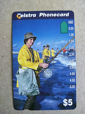 Unused $5 Fishing at the Beach Phonecard Prefix 1436
