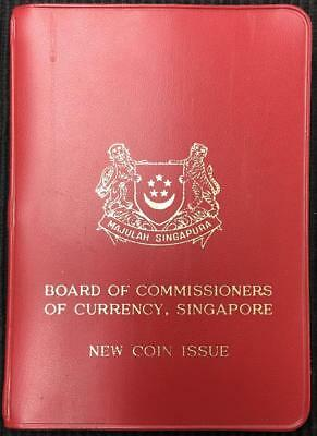 1967 Singapore New Coin Issue 6 Coin Uncirculated Set In Red Wallet Great Set