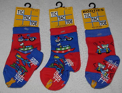 New 3 Pairs Quality Baby Boys Infant Socks Booties 0-6 Months Lot