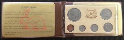 1975 Singapore Year Of The Rabbit Coin Set In Excellent Condition Nice Set