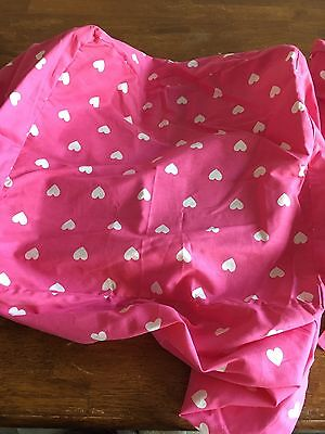 4 Pottery Barn Pink Hearts Basket Liners