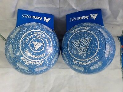 "HENSELITE""DREAMLINE XG""  LAWN BOWLS SIZE 4 HEAVY WEIGHT  GRIPPED ""Pyramid"""