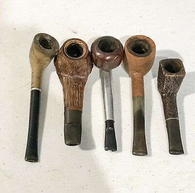 Lot Of 5 Vintage Tobacco Smoking Estate Pipes Whitehall Meerschaum Medico