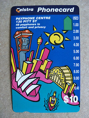 Unused $10 Payphone Centre Phonecard Prefix 913
