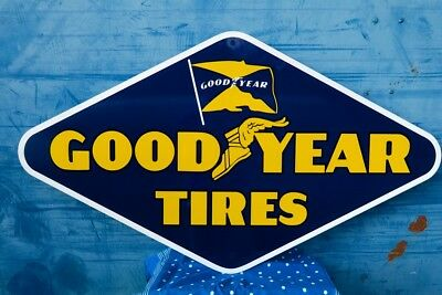 Vintage GOODYEAR TIRES Heavy & Thick sign