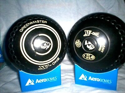 "Greenmaster ""xv-One""  Lawn Bowls Size 4 Heavy Weight  Gripped ""fish"""