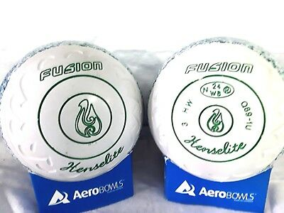 "Henselite ""fusion""  Lawn Bowls Size 3 Heavy Weight  Gripped ""geometric"""