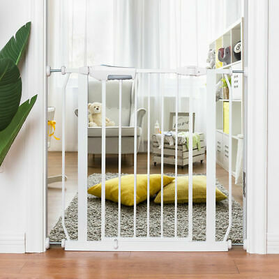Baby Safety Gate Door Walk Through Toddler Child Pet Metal Easy Locking System