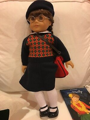 American Girl Molly Retired original outfit, beach attire, green formal dress