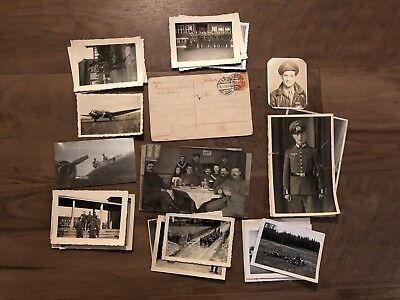Lot of VTG WW2 WWII Photos c. 1940's - Planes, Aircraft, and Soldiers  (L28-G2)