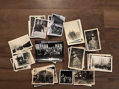 Lot of VTG WW2 WWII Photos c. 1940's - Soldiers & Life During War (L28-G3)