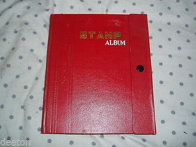 Vintage Stamp Album 18 Card Pages Stamps Worldwide Ideal Present For A Child Lt1