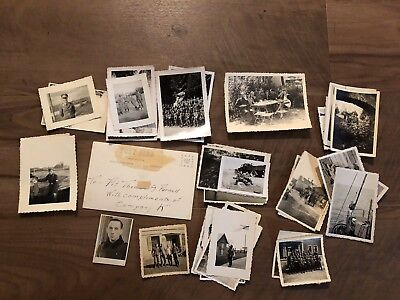 Lot of VTG WW2 WWII Photos c. 1940's - Soldiers & Life During War (L28-G6)