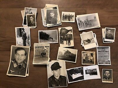 Lot of VTG WW2 WWII Photos c. 1940's - Soldiers & Life During War (L28-G7)