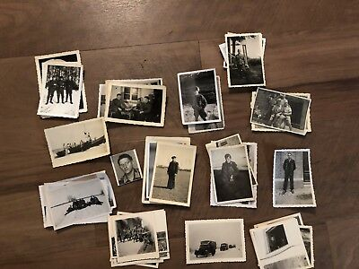 Lot of VTG WW2 WWII Photos c. 1940's - Soldiers & Life During War (L28-G10)