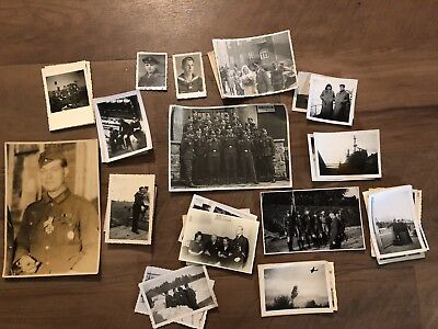 Lot of VTG WW2 WWII Photos c. 1940's - Soldiers & Life During War (L29-G1)