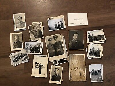 Lot of VTG WW2 WWII Photos c. 1940's - Soldiers & Life During War (L29-G2)
