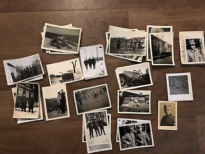 Lot of VTG WW2 WWII Photos c. 1940's - Soldiers & Life During War (L29-G3)