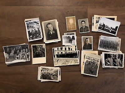 Lot of VTG WW2 WWII Photos c. 1940's - Soldiers & Life During War (L29-G4)
