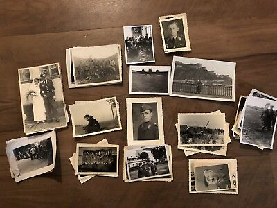 Lot of VTG WW2 WWII Photos c. 1940's - Soldiers & Life During War (L29-G6)
