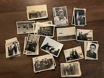 Lot of VTG WW2 WWII Photos c. 1940's - Planes, Aircraft, and Soldiers (L29-G8)