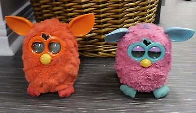 Red Furby and Cotton Candy Pink/Teal Furby Toy