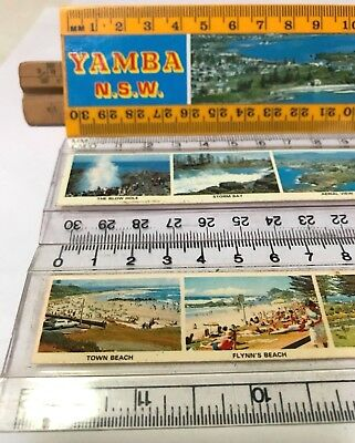 Vintage School Rulers Yamba  Kiama Port Macquarie Souvenirs Nsw Surf Beaches Exc