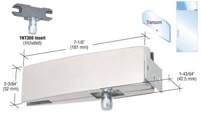 Brushed Stainless Wall Mount Transom Curved Patch