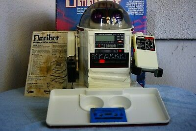 Vtg 1984 TOMY Omnibot No. 5402 Robot Not Working for Parts or Repair with Box