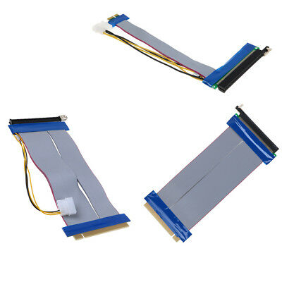 PCIE PCI-Express 16x-16x Riser Extension Card Ribbon Extender Cable Powered NEW